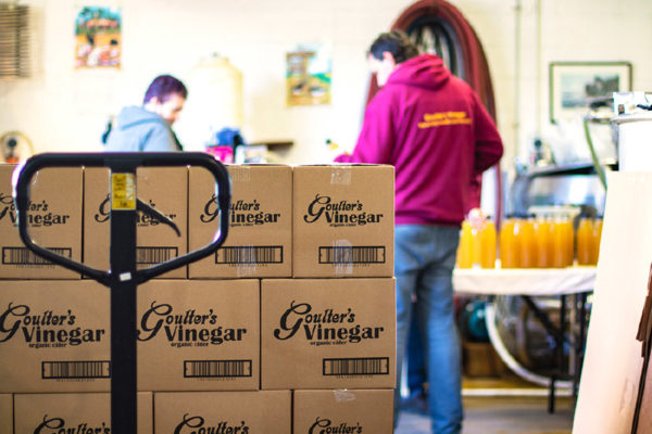Processing Wholesale Vinegar Orders At Goulter's